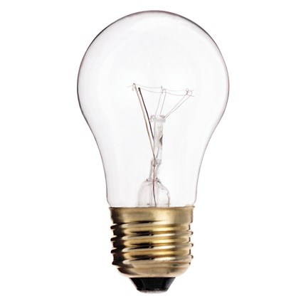 15A15 Satco S3948 15 Watt 130 Volt Incandescent Lamp