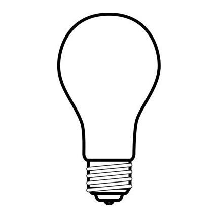 30A15/8 GE 19358 30 Watt 130 Volt Incandescent Lamp