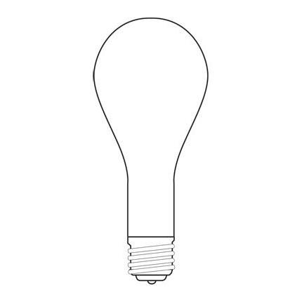 1000 GE 22260 1000 Watt 130 Volt Incandescent Lamp