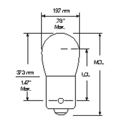 1003 MIN (10 Pack) GE 26709 12 Watt 12.8 Volt Miniature Lamp