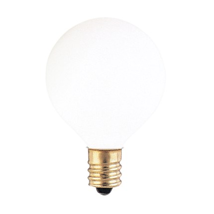 25G12WH Bulbrite 300025 25 Watt 130 Volt Incandescent Lamp