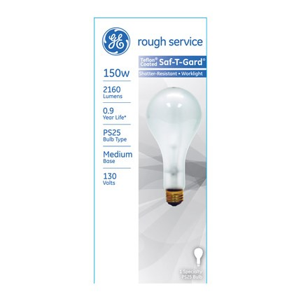 150PS25/RS/STG GE 72547 150 Watt 130 Volt Incandescent Lamp