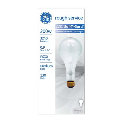 200PS30RS/23/STG GE 72548 200 Watt 130 Volt Incandescent Lamp