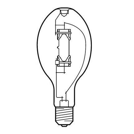 MVR400/U/PA GE 78666 (6 PACK) 400 Watt Quartz Metal Halide - High Intensity Discharge Lamp