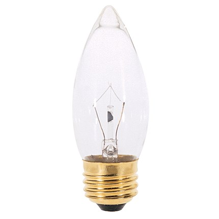 25B11 Satco A3631 25 Watt 130 Volt Incandescent Lamp
