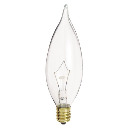 60CA10 Satco A3662 60 Watt 130 Volt Incandescent Lamp