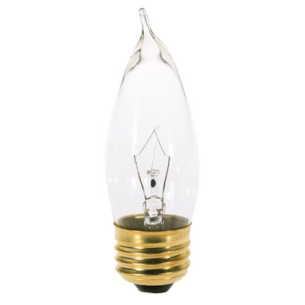 25CA10 Satco A3664 25 Watt 130 Volt Incandescent Lamp