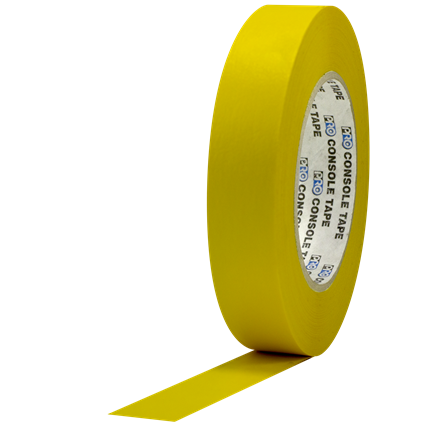 1C160MYEL Pro Console 1x60yd Yellow Flatback Paper (case of 36)