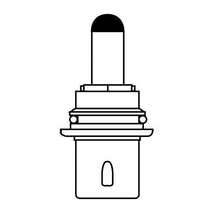 9007 MIN (10 Pack) GE 20551 65 Watt 12.8 Volt Miniature Lamp