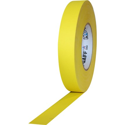 1UPCG155MYEL Pro Gaff 1x55yds Yellow Cloth Tape UPC (case of 48)