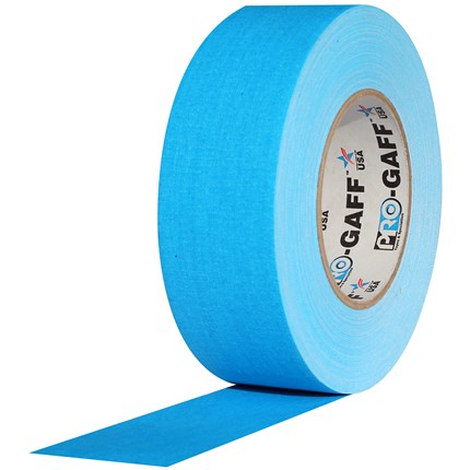 1UPCG250MFLBLU Pro Gaff 2x50yds fluorescent Blue Tape UPC