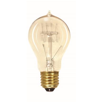 40A19/CL/Vintage Satco S2412 40 Watt 120 Volt Incandescent Lamp