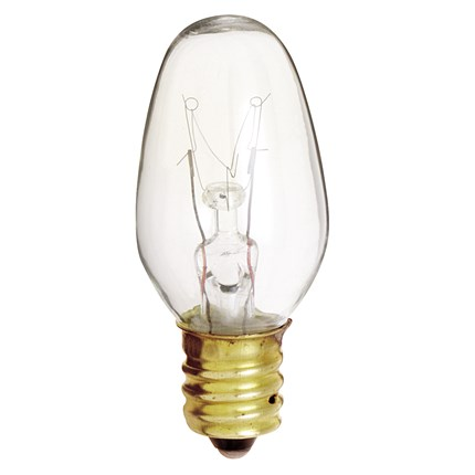 7C7 Satco S3691 7 Watt 120 Volt Incandescent Lamp