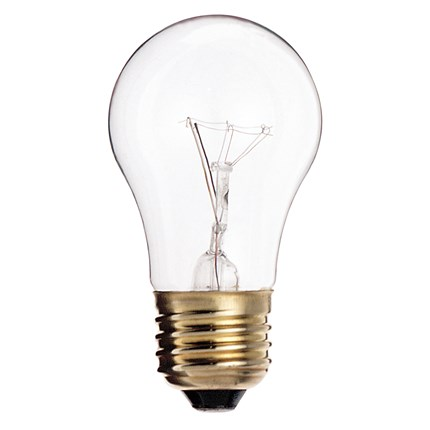 25A15/CL Satco S3814 25 Watt 130 Volt Incandescent Lamp