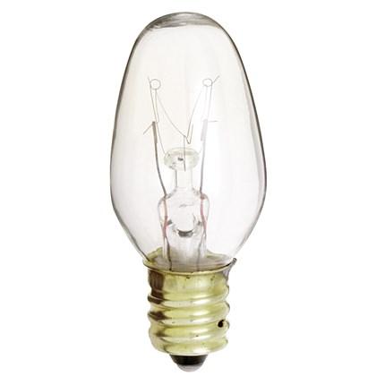 7C7 Satco S3902 7 Watt 130 Volt Incandescent Lamp
