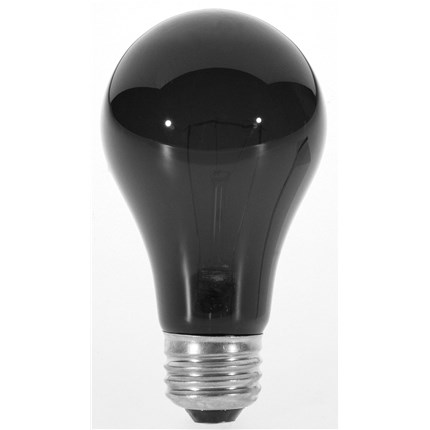 75A/BlackLight Satco S3920 75 Watt 120 Volt Incandescent Lamp