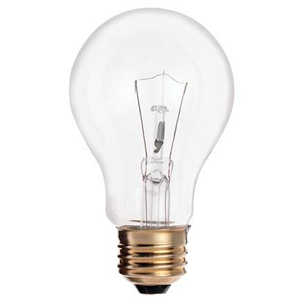 25A19/CL Satco S3940 25 Watt 130 Volt Incandescent Lamp
