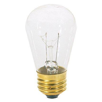 11S14 Satco S3965 11 Watt 130 Volt Incandescent Lamp