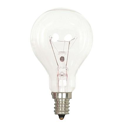 40A15/CL/E12 Satco S4160 40 Watt 130 Volt Incandescent Lamp