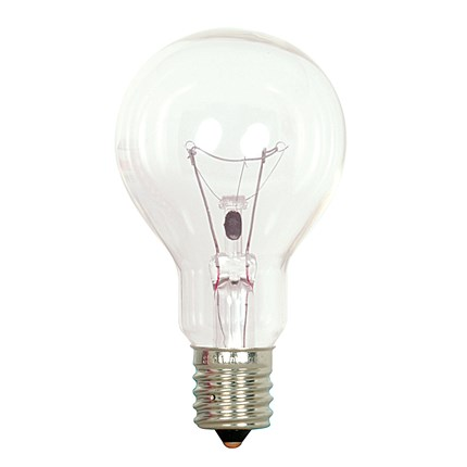 40A15/CL/E17 Satco S4164 40 Watt 130 Volt Incandescent Lamp