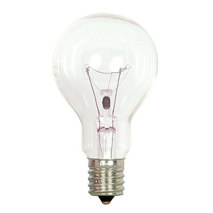 40A15/CL/E17 Satco S4164 40 Watt 130 Volt Incandescent Lamp