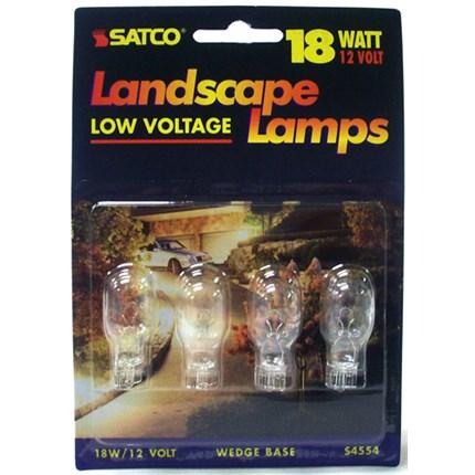18T5 MIN (10 Pack) Satco S4554 18 Watt 12 Volt Miniature Lamp