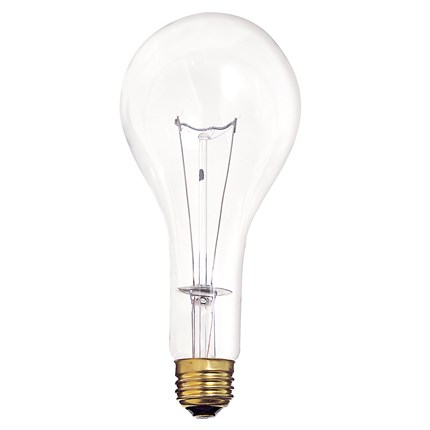 300M/CL Satco S4959 300 Watt 130 Volt Incandescent Lamp