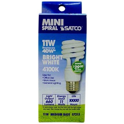11T2/41 Satco S7215 11 Watt 120 Volt Compact Fluorescent Lamp