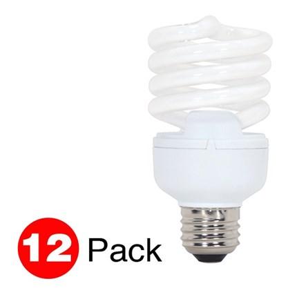 20T2/E26/2700K (12 Pack) Satco S7437 20 Watt 120 Volt Compact Fluorescent Lamp