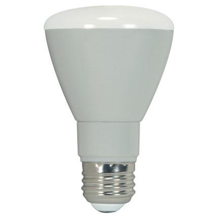 7R20/ E26/ 5000K/ Dimmable Satco S9143 7 Watt 120 Volt LED Lamp
