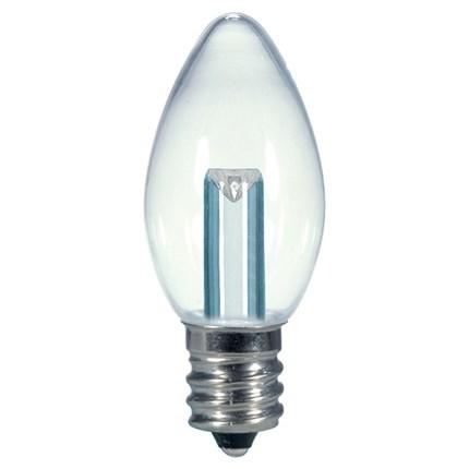 0.5W C7/CL/LED/CD Satco S9156 1 Watt 120 Volt LED Lamp